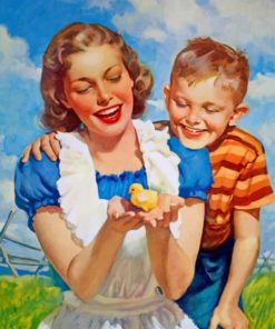 adorable-mother-and-son-paint-by-numbers