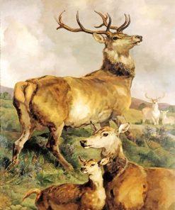 aesthetic-deers-paint-by-numbers