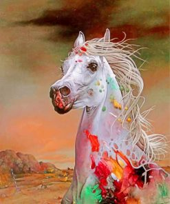 aesthetic-white-horse-paint-by-number