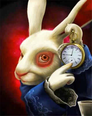 Alice In Wonderland Rabbit Paint by numbers