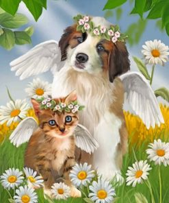 angel-kitty-and-puppy-paint-by-number