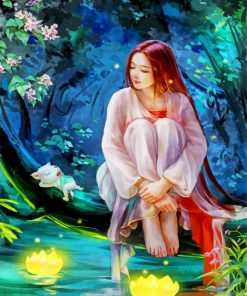 asian-forest-forest-girl-paint-by-number