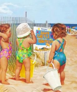 baby-sister-on-the-beach-paint-by-number-501x400