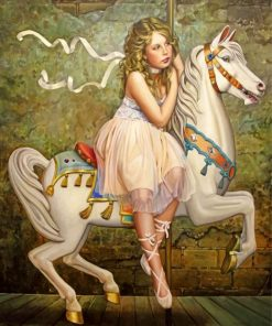ballerina-and-carousel-paint-by-number