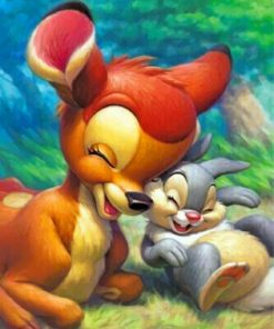 bambi-and-bunny-paint-by-numbers