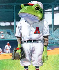 Baseball Frog Paint by numbers