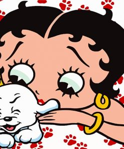 betty-boop-and-her-pet-paint-by-numbers