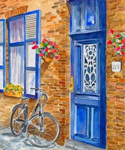 Bicycle In Brugge Paint by numbers