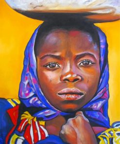 black-african-girl-paint-by-number