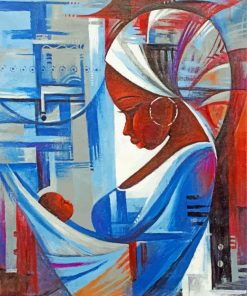 Black African Mother And Child Paint by numbers