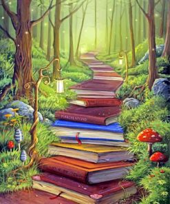 Books Path Art Paint by numbers