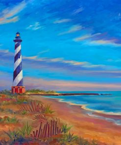cape hatteras lighthouse paint by number