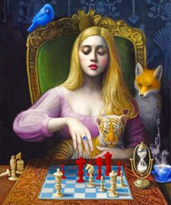 Chie Yoshii Chess Paint by numbers