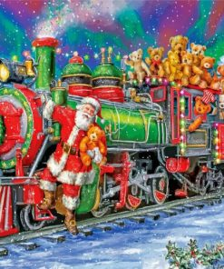 Christmas Santa Train Paint by numbers