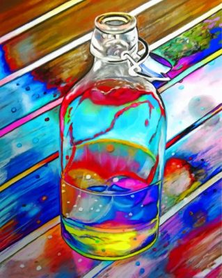 Colorful Glass Bottle paint by numbers