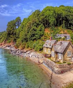 Cottages By The Sea paint by numbers