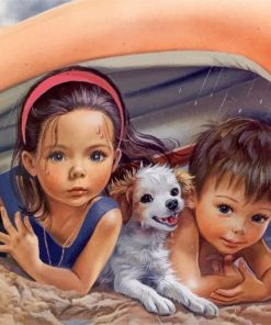 cute-siblings-and-their-pet-paint-by-number