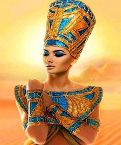 Egyptian Woman paint by numbers