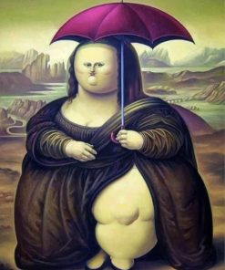 fat-mona-lisa-holding-an-umbrella-paint-by-numbers