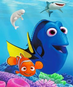 Finding Dory Movie Paint by numbers