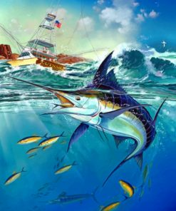 Jumping Sailfish paint by numbers