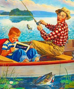 Fisher Man And His Son paint by numbers
