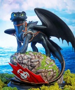 flying-toothless-the-dragon-paint-by-number