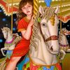 girl-on-a-white-carousell-paint-by-number