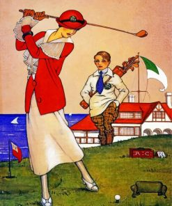 Golfer Woman Paint by numbers