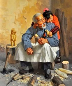 grandfather-and-granddaughter-paint-by-numbers