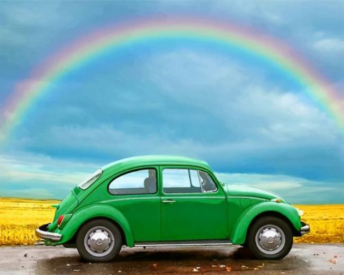 green-volkswagen-st-paint-by-number