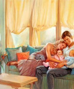 Happy Family paint by numbers