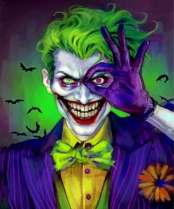 Joker Supervillain Paint by numbers