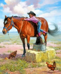 little-cowgirl-paint-by-number