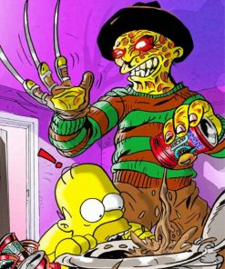 Michael Myers The Simpsons Paint by numbers