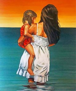 mother-and-daughter-in-the-beach-paint-by-numbers