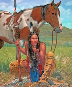 native-man-paint-by-numbers