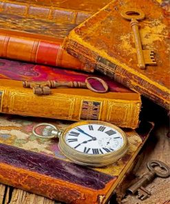 Old Books And Keys Paint by numbers