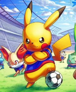 pikachu-playing-football-paint-by-numbers