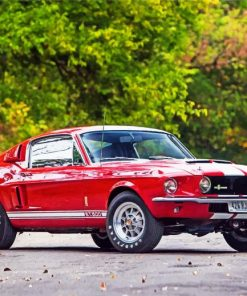 red-car-ford-1967-shelby-gt500-paint-by-numbers