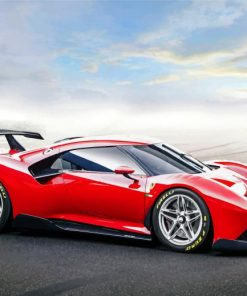 red-ferrari-race-car-paint-by-number