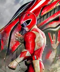 red-power-rangers-paint-by-number