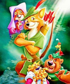 Robin Hood Walt Disney Paint by numbers