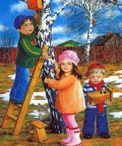 sibling-making-bird-house-paint-by-numbers