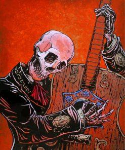 Skeleton Guitarist Paint by numbers