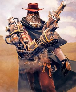 Steampunk Cowboy Paint by numbers