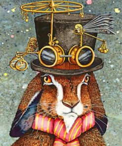 Steampunk Rabbit Paint by numbers