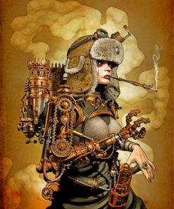 Steampunk Woman Paint by numbers