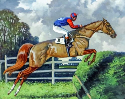 Steeplechase Horse Paint by numbers