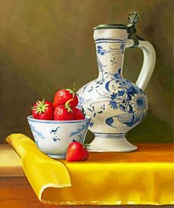 strawberry-still-life-paint-by-numbers